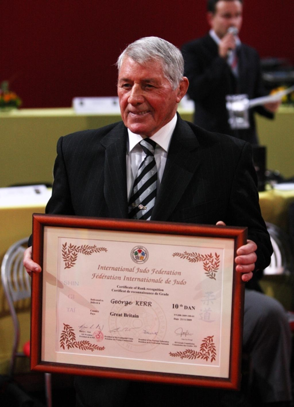 George Kerr humble and honoured after receiving 10th Dan Grade