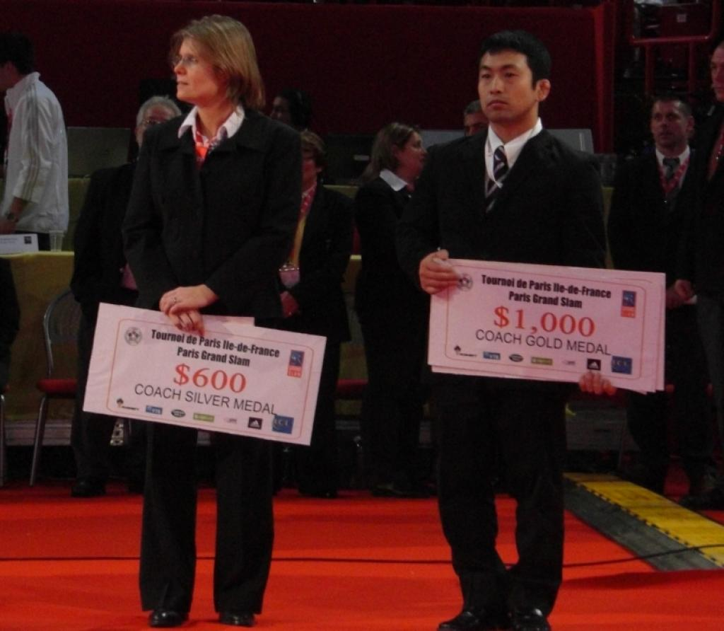 Coaches share in the prize money