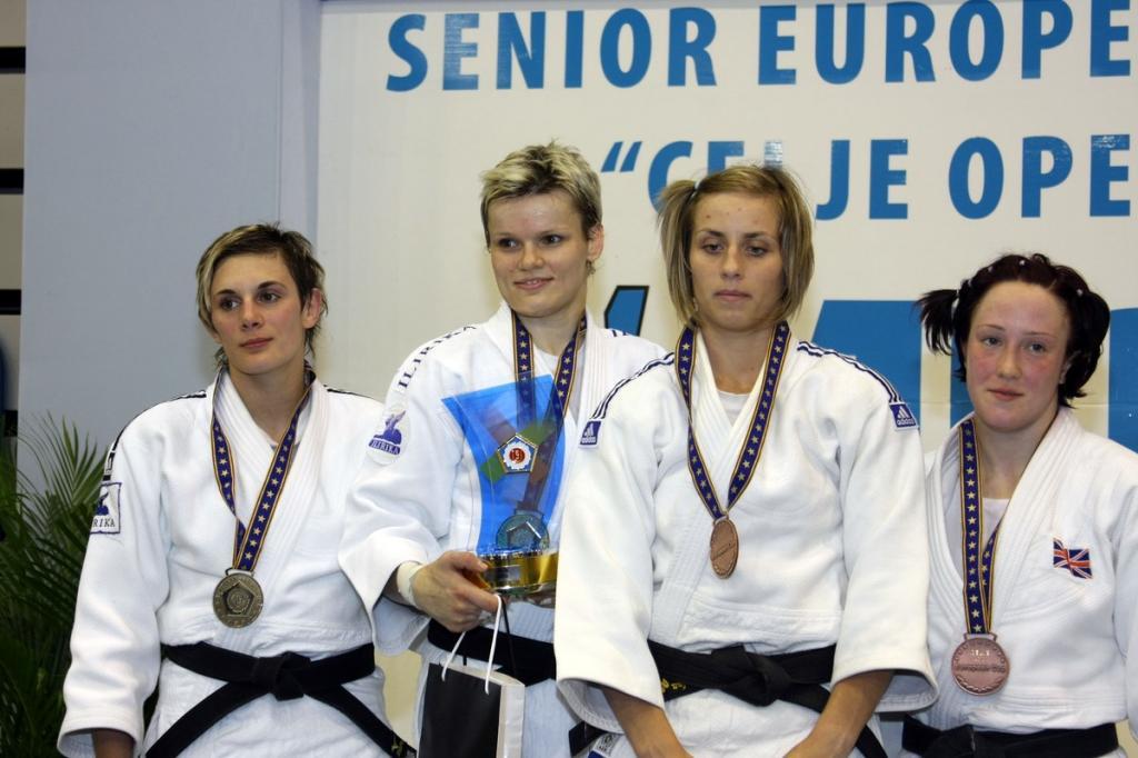Slovenia celebrating two gold medals in Celje