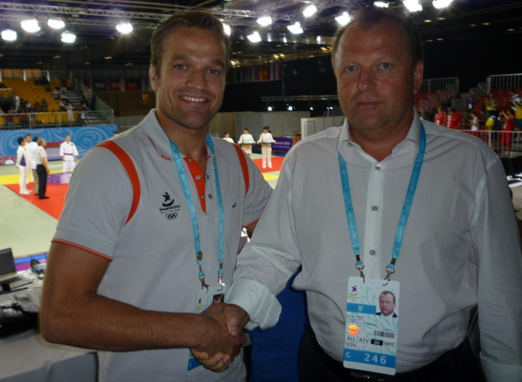 Athlete Role Model Ruben Houkes at the Olympics