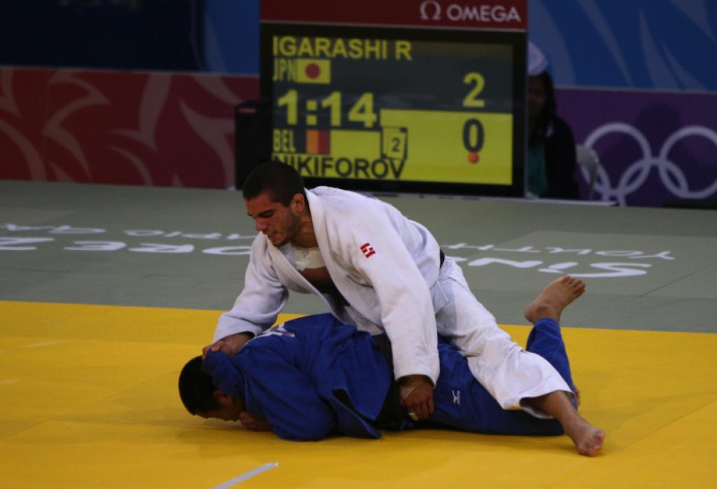 Japanese Ryosuke Igarashi takes gold U100kg defeating Belgian Nikiforov
