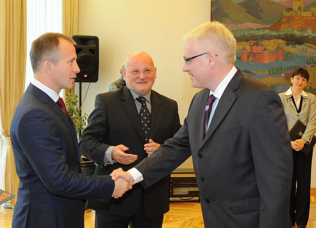 Croatian President welcomes EJU President before the EC Veterans in Porec
