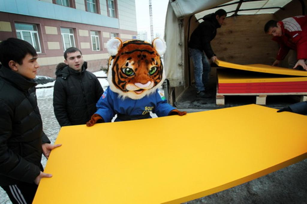 Tatamis for Euro-2012 have arrived in Chelyabinsk