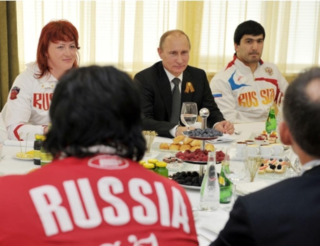"Vladimir Putin visits the ""Academy of Judo"""