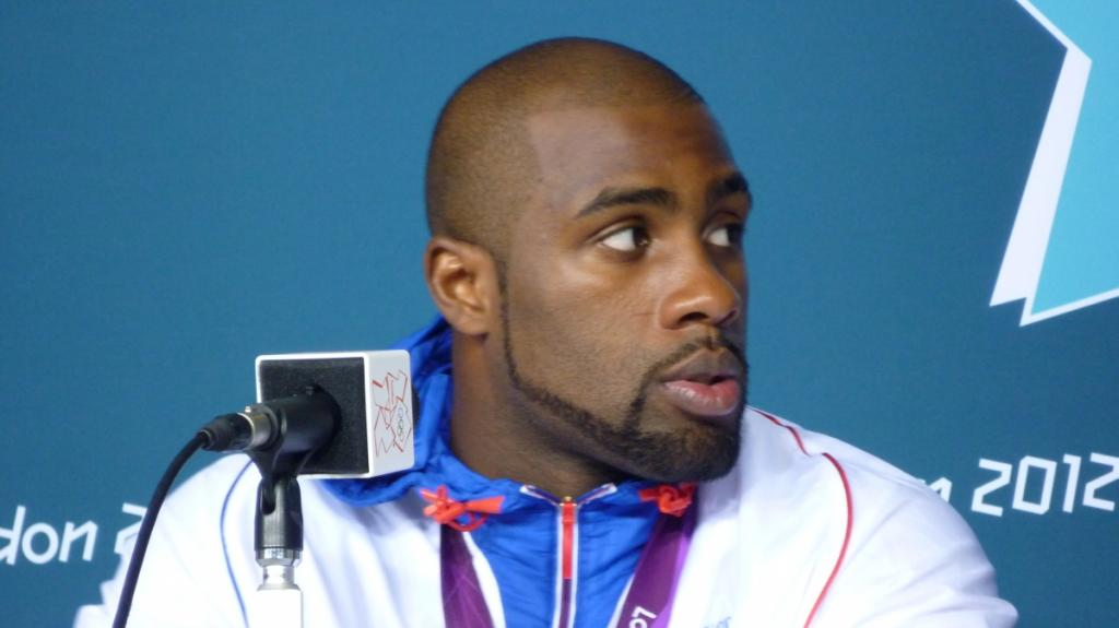 Interview with Teddy Riner just after he won his medal