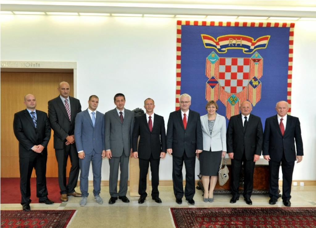 EJU President Soloveychik meets with Croatian President Josipovic