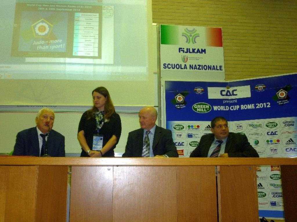Draw Men and women at Green Hill World Cup in Rome