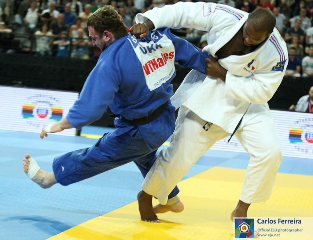 Riner strikes gold in front of home crowd