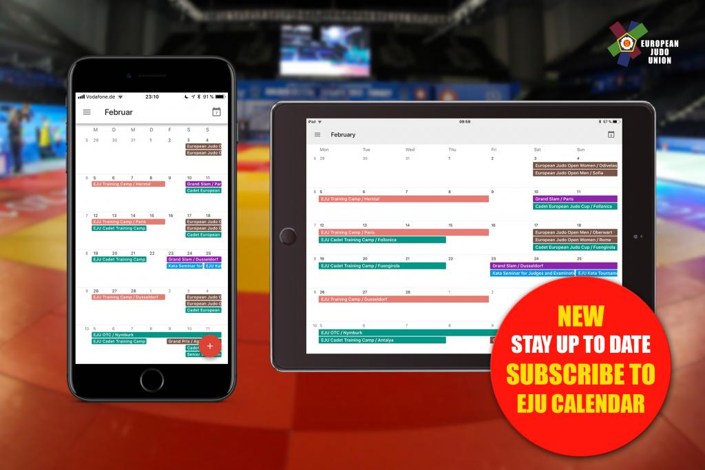 UPGRADE: SUBSCRIPTION FOR EJU & IJF CALENDAR