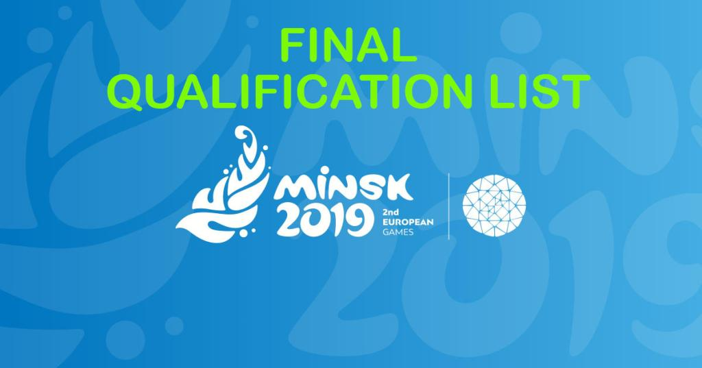 MINSK - FINAL QUALIFICATION LIST IS ONLINE